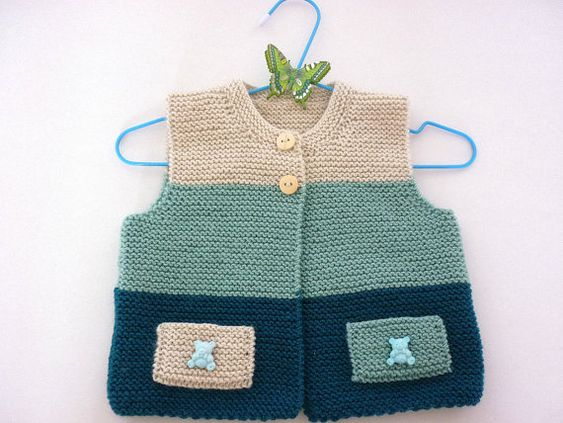 Knitting baby patterns.Knit baby vestKnitted baby от AnaSwet: