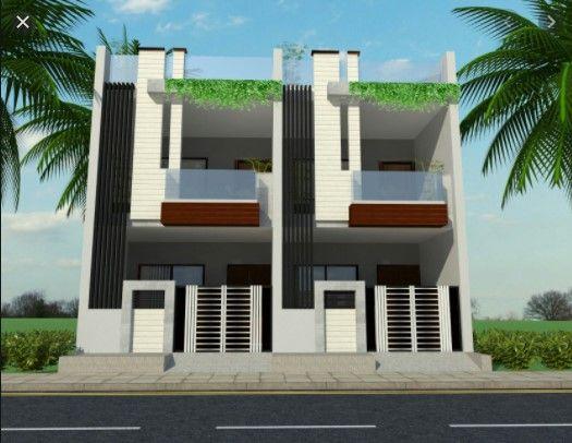 Row House Front Design Ruko