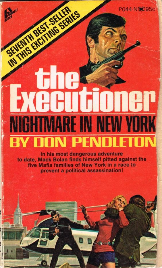 GEORGE GROSS - Nightmare in New York (Executioner 7) by Don Pendleton - 1971 Pinnacle Books