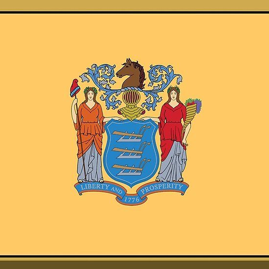 New Jersey State Flag Stickers Gifts And Products In 2020 State Flags Flag Flags Of The World