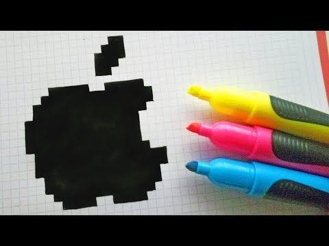 Handmade Pixel Art How To Draw Logo Apple Pixelart Youtube Pixel Drawing Pixel Art Pix Art