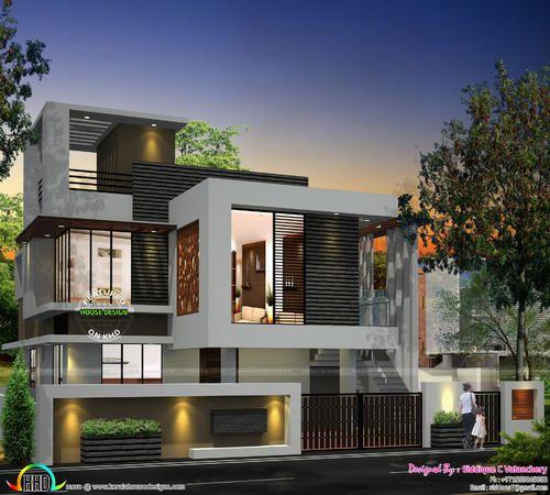 Imagem Relacionada Contemporary House Design Kerala House Design Duplex House Design Contemporary house elevation double floor