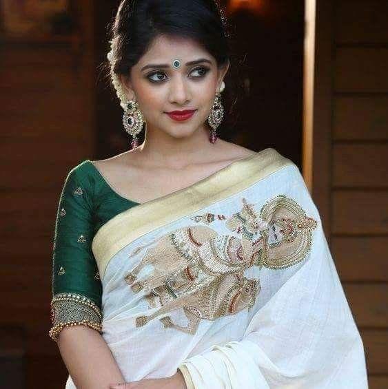 Traditional Saree Bridal Hairstyle Kerala Saree Blouse Designs Designer Saree Blouse Patterns Saree Look
