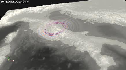 La propagazione del sisma su territorio: animazione 3D INGV
