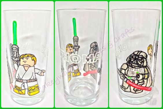 Personalised Star Wars glass x