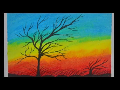 Beautiful Scenery Drawing With Oil Pastel Oil Pastel Drawing Easy Landscape Drawing Beautiful Scenery Drawing Oil Pastel Drawings Easy Landscape Drawings