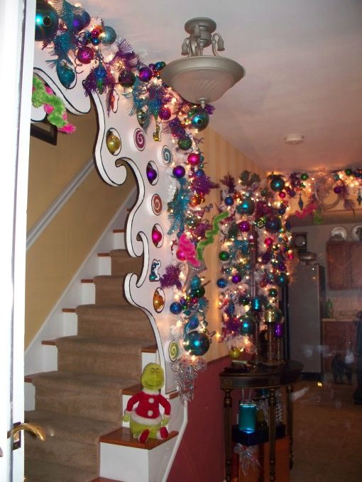 dr  seuss  whoville christmas decorations and entrance on pinterest