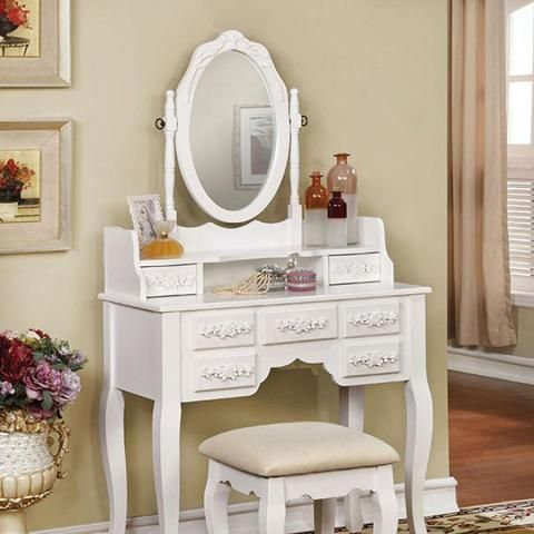 Harriet Traditional Vanity White By Casagear Home Vanity Set