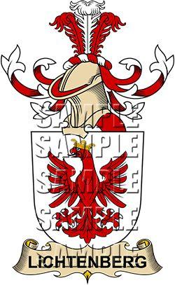 Lichtenberg Family Crest apparel, Lichtenberg Coat of Arms gifts