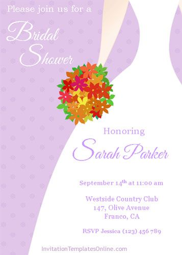 Bridal Shower Powerpoint Invitation template Art Pinterest - bridal shower invitation samples