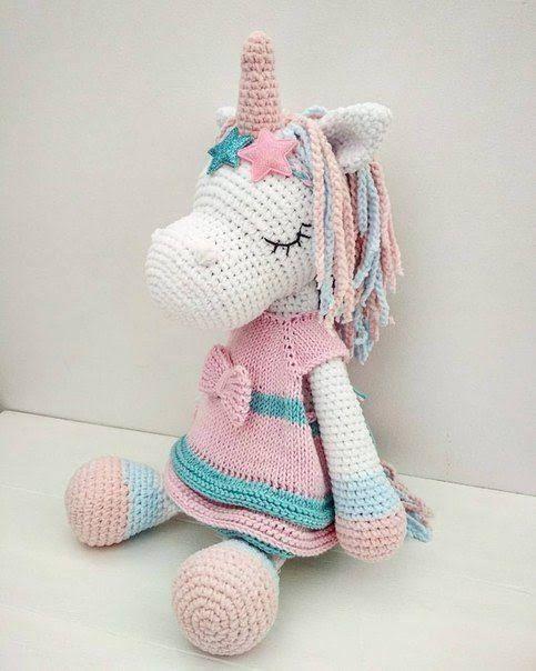 Amigurumi Pattern Premium: Unicorn Doll - Candy & Mint - Tarturumies | 604x483