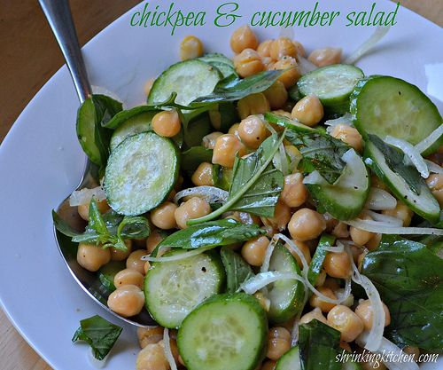 Chickpea & Cucumber Salad - Shrinking Kitchen : Shrinking Kitchen