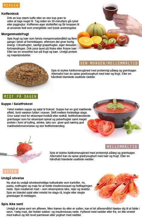mad der forbrænder fedt på maven