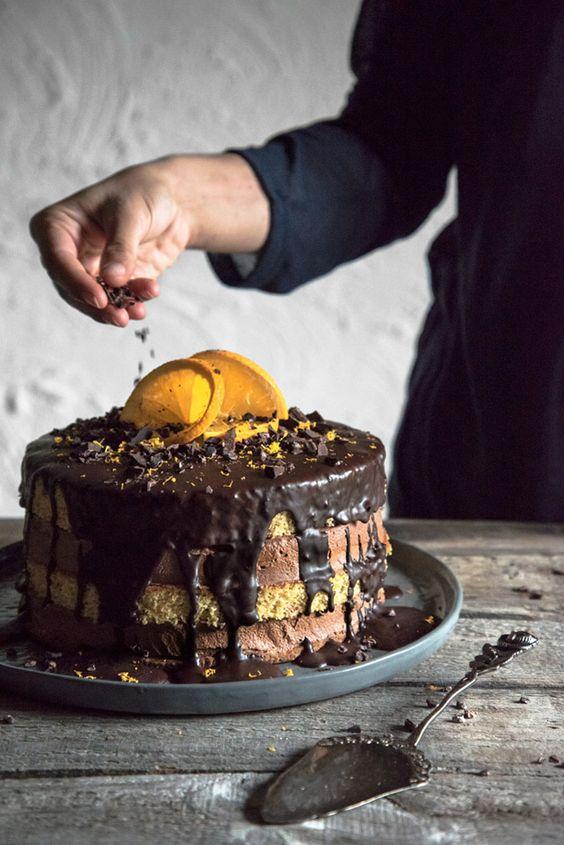 Schokoladen Orangen Torte glutenfrei