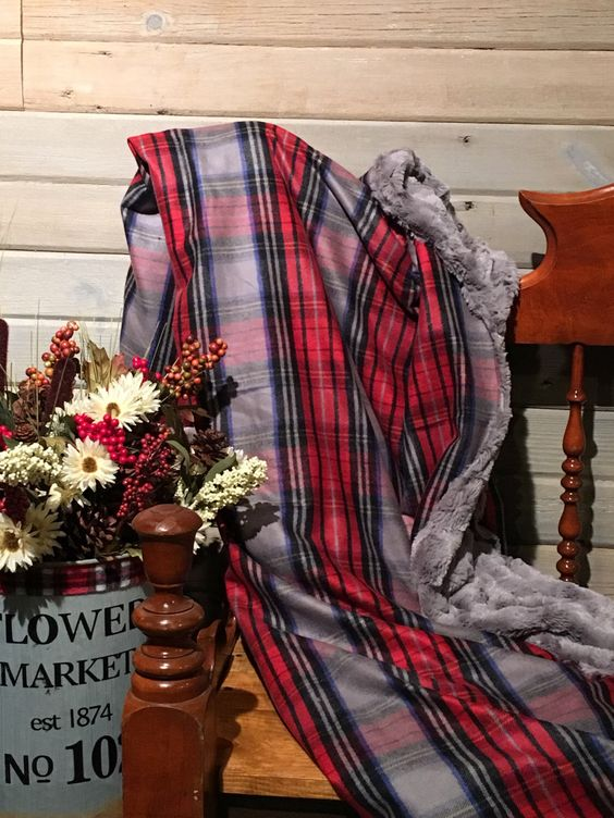Ultra Soft Red and Grey Plaid Faux Fur Twin/Throw Blanket by TheCozyCabinShop on Etsy https://www.etsy.com/listing/487750087/ultra-soft-red-and-grey-plaid-faux-fur