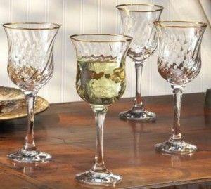 REGENT GOLD WINE GLASSES