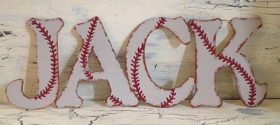 Baseball Decor-Baseball Letters-Baby Boy Nursery Decor