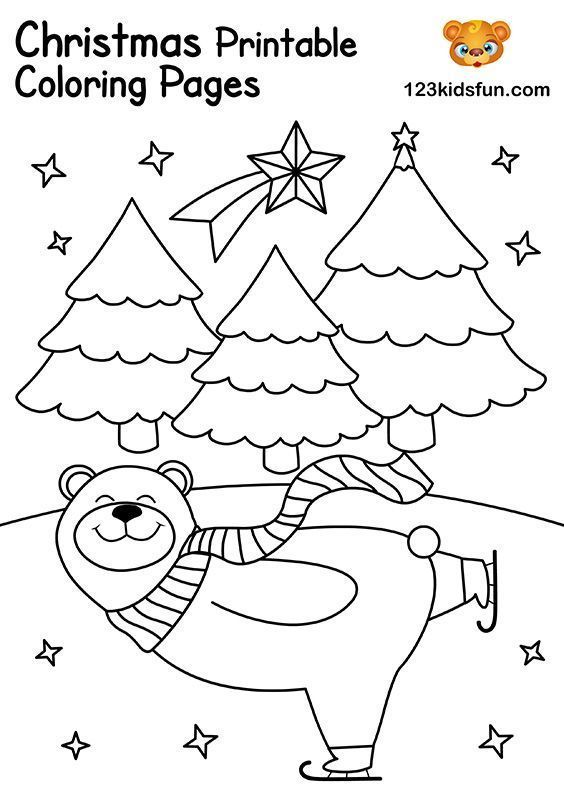 Free Christmas Printable 123 Kids Fun Apps Printable Christmas Coloring Pages Christmas Coloring Pages Christmas Coloring Printables