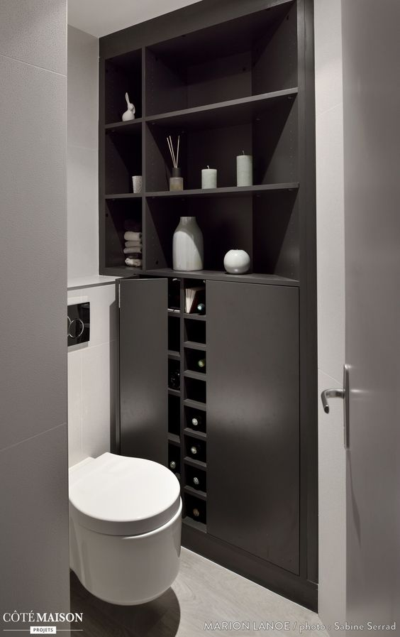 Couple bureaux and fils on pinterest for Amenagement toilette
