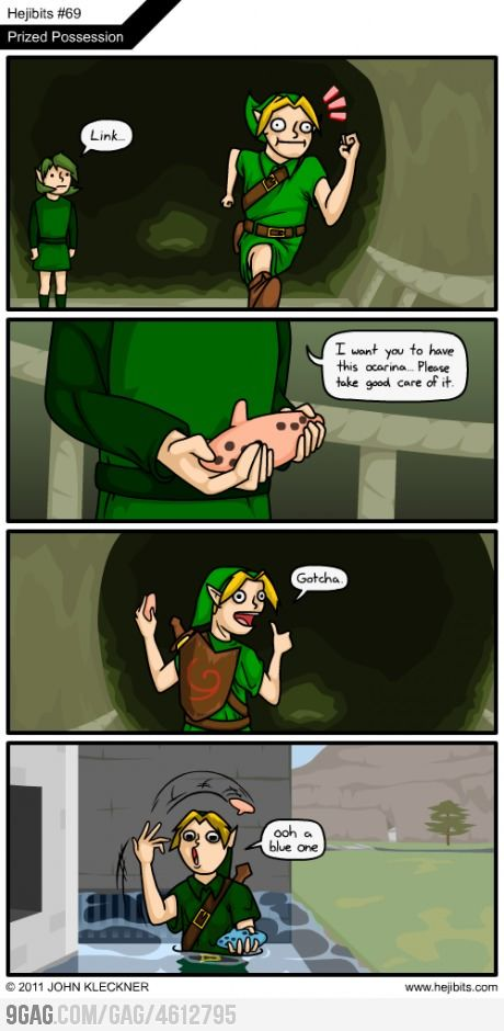 Lol. Saria and Link, Link finds the Ocarina of Time - The Legend of Zelda: Ocarina of Time; fan art