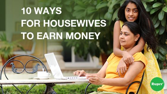 Are you a homemaker and looking for a part time #Job without stepping outside? Find out 10 ways through which you can earn #Money. http://blog.ruprr.com/10-ways-for-housewives-to-earn-money/