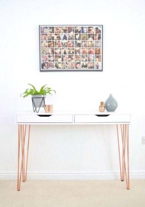 A Chic Alex Hack Into A Modern Console With Copper Hairpin Legs