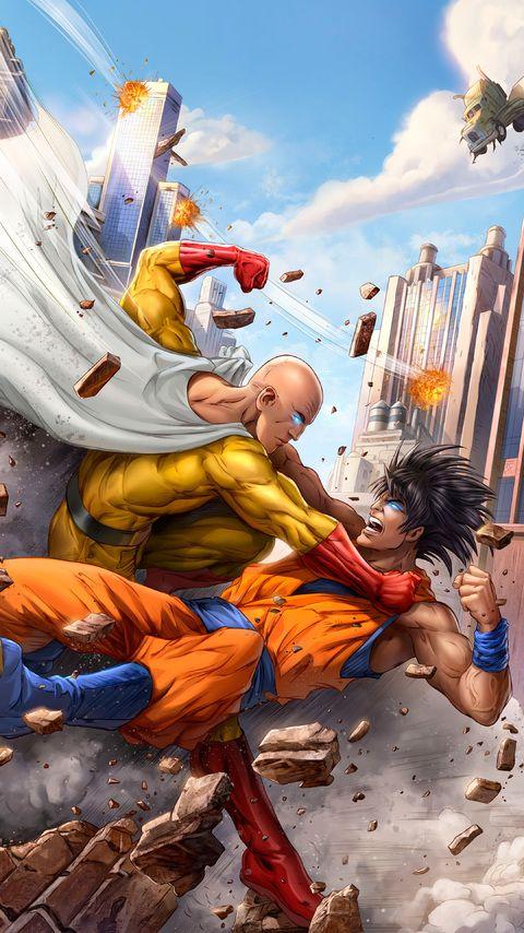 Saitama Vs Goku One Punch Man Filmes De Herois Desenho Pikachu Anime