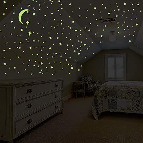 Glow In The Dark Stars Wall Ceiling Stickers Baby Kids Nursery Bedroom Decor
