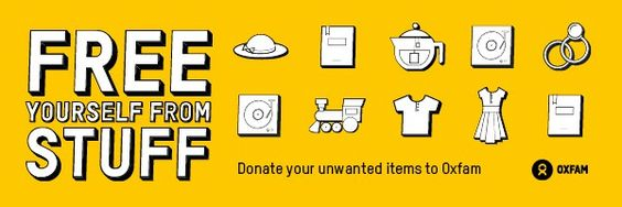 Free yourself from STUFF! Find out how your baggage could be someone else's lifeline Oxfam Fashion ClearYourClutterDay http://www.moneymagpie.com/clear-your-clutter-day/why-you-should-de-clutter-and-donate-this-spring