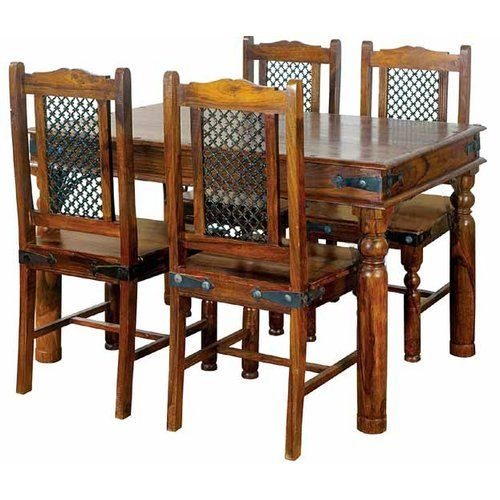 Alpen Home Lola Dining Set With 4 Chairs Wooden Dining Tables Sheesham Wood Furniture Solid Wood Table Tops