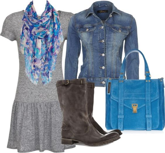 """""""T dress with denim"""" by heather-rose-clarke on Polyvore"""