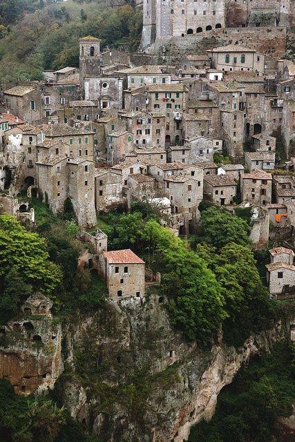 Sorano, Tuscany, ITALY.: