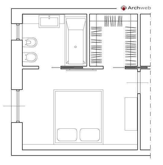 best 25+ camera da letto con cabina armadio ideas on pinterest ... - Dimensioni Minime Camera Da Letto