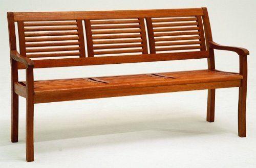 Gartenbank 3 Sitzer Eukalyptus Holz