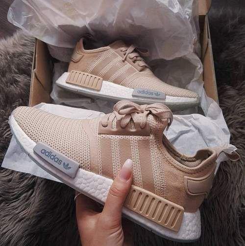 Running sneakers in neutral tones | | Just Trendy Girls | Nmd ...