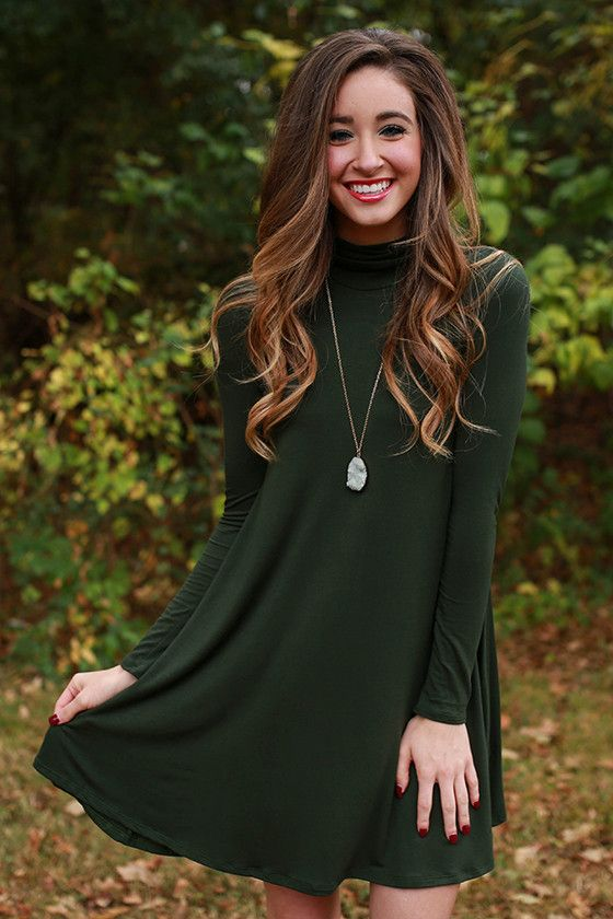 Pair this shift dress with cowboy boots for a country chic look, or pair it with heels or tall boots for a chic city look!: