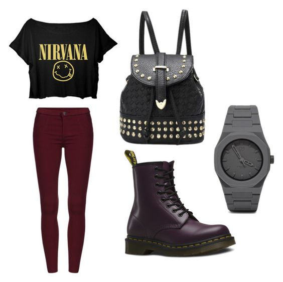 """""""Untitled #52"""" by teenwolff ❤ liked on Polyvore featuring Dr. Martens and CC"""