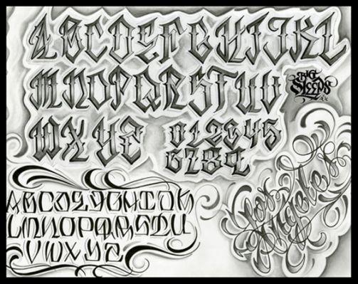 Big Sleeps Lettering Alphabet