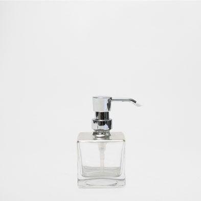 silver glass dispenser