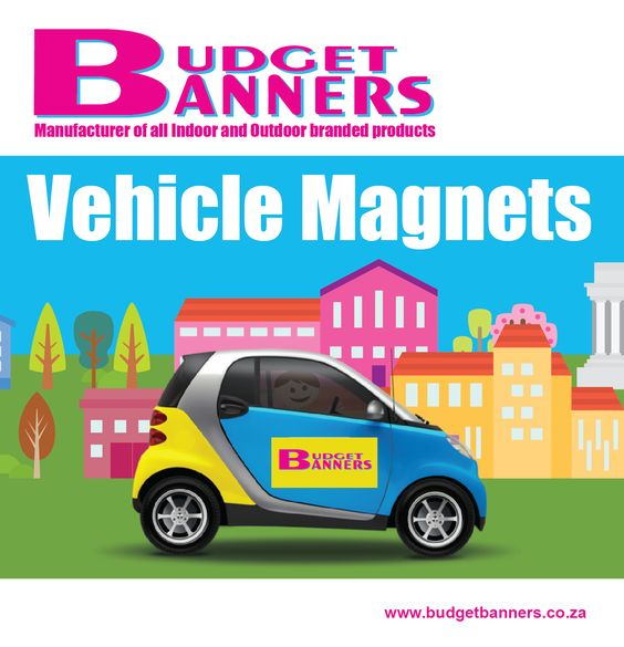 Magnetic branding and signage is one of the most affordable and versatile ways to widen your market reach.  http://www.budgetbanners.co.za/vehicle-magnets
