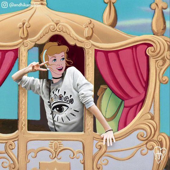 ¿Te imaginas a las princesas Disney perseguidas por los paparazzi?