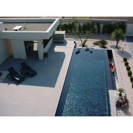 Carrelage piscine noire elena personnalis mosaique for Carrelage piscine exterieure