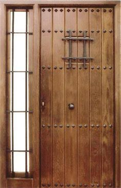 Puertas principal and santa fe on pinterest for Puertas principales rusticas madera