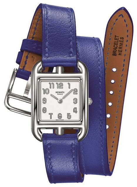 hermes leather wrist watch