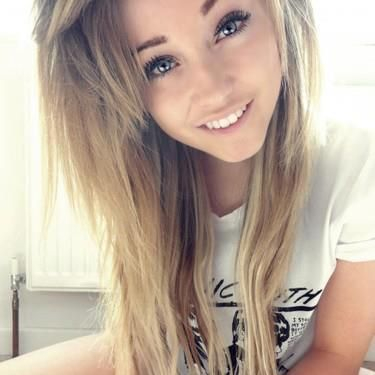 Blonde girl green eyes remarkable