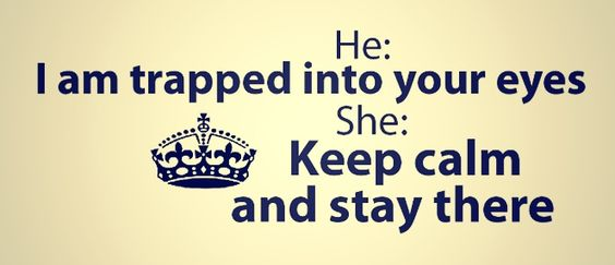 Keep calm and stay there ):