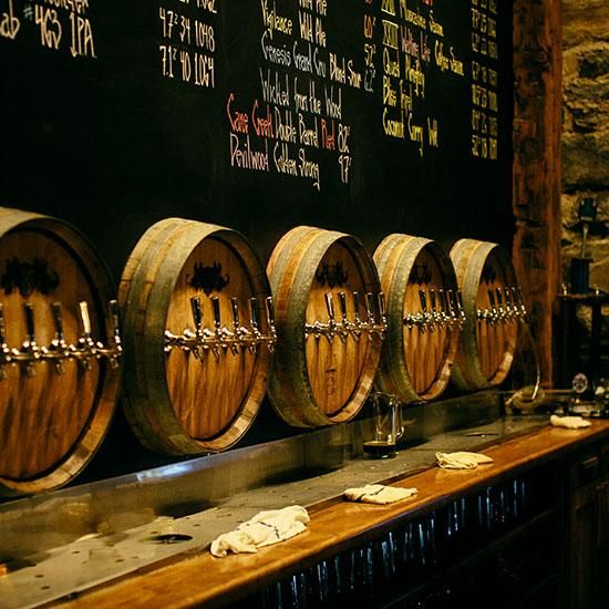 The downstairs pub at Wicked Weed Brewing Company in #Asheville North Carolina