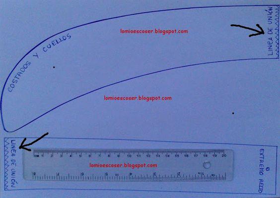 LO MIO ES COSER..... Y HACER PATRONES: Plantilla en pdf para reglas curvas