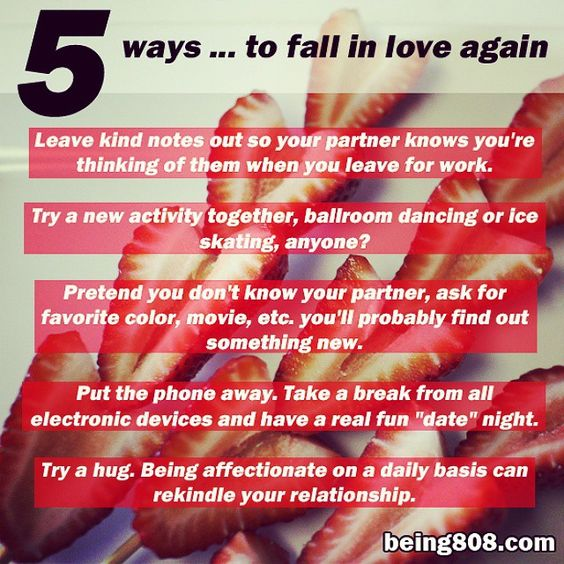 5 ways ... to fall in love again