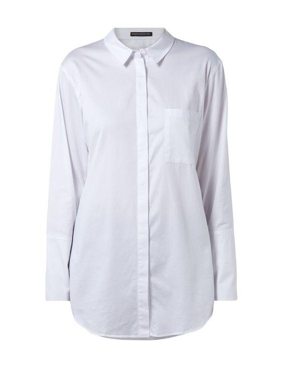 DRYKORN Oversized Hemdbluse mit Stretch-Anteil in Weiß online kaufen (9503375)   P&C Online Shop
